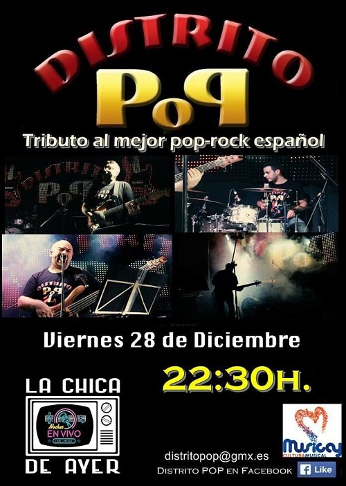 "DISTRITO POP ""TRIBUTO AL MEJOR POP ROCK ESPAÑOL"""