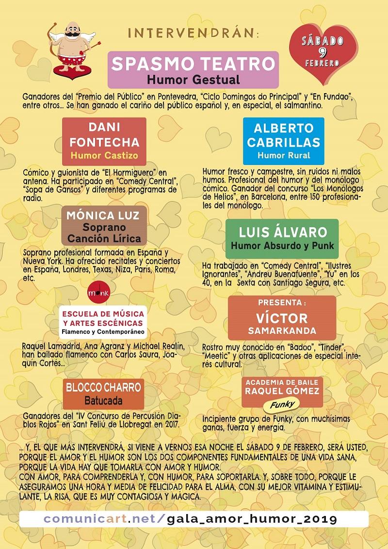 10ª Gala del Amor y del Humor 2019, Palacio de Congresos y Exposiciones de Salamanca, Cuesta de Oviedo s/n, 9 febrero 2019