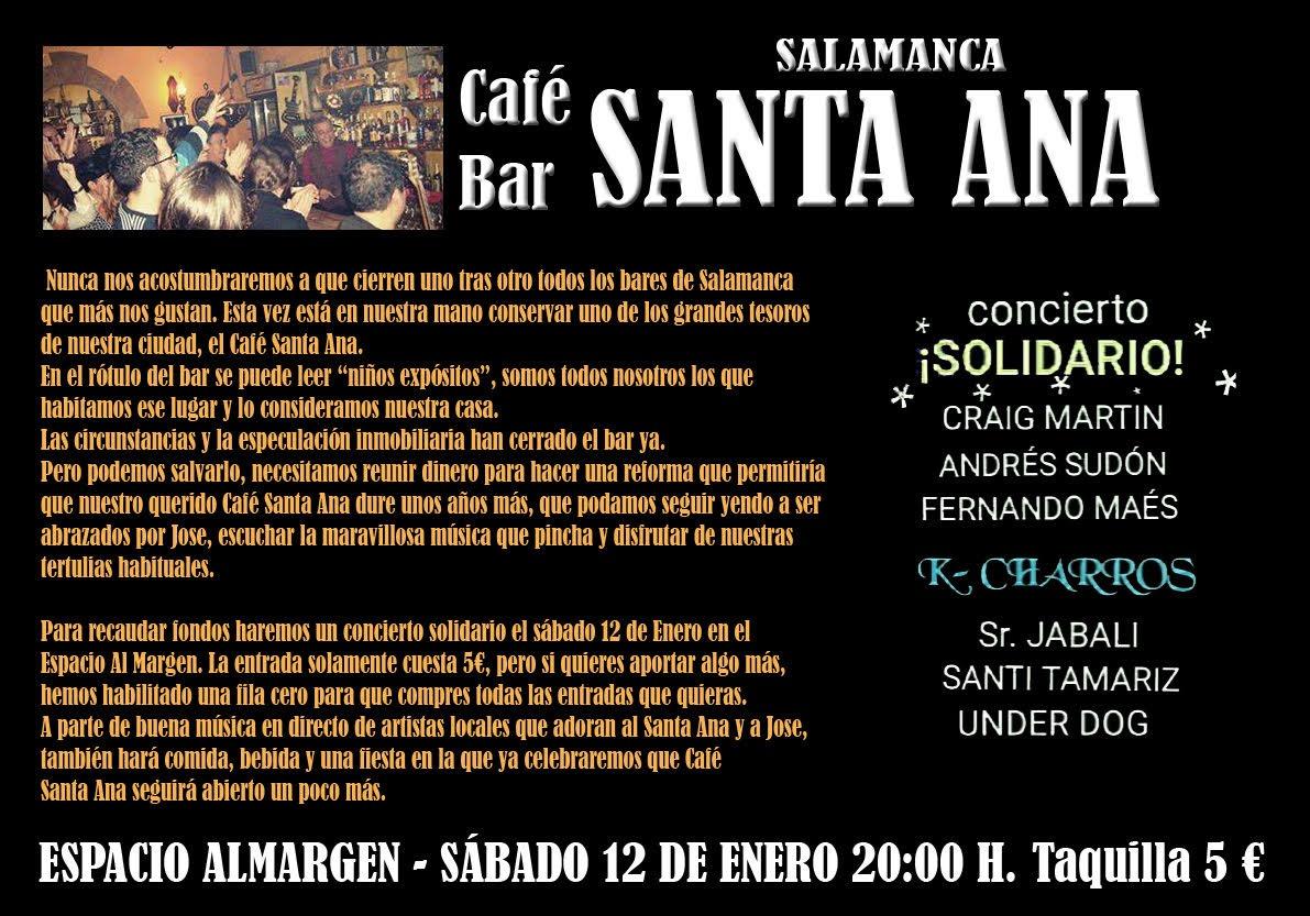 CONCIERTO SOLIDARIO CAFÉ BAR 'SANTA ANA'