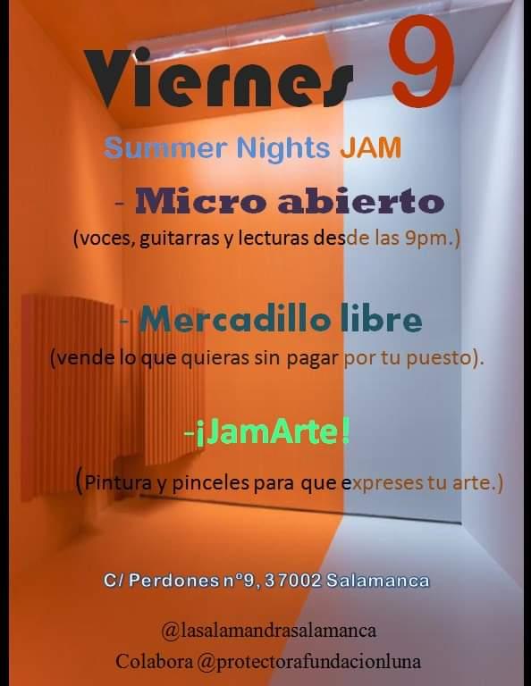 SUMMER Nights JAM en Salamandra Bar (Micro Abierto, Mercadillo Libre y JamArte)